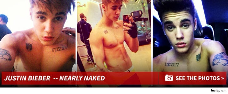 Justin Bieber's Nearly Naked Photos!