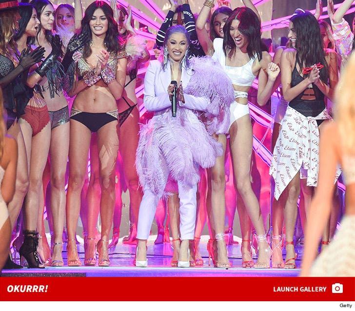 Cardi B Onstage for the ETAM Fashion Show in Paris