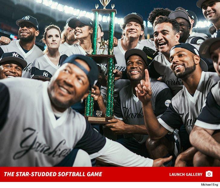 CC Sabathia vs. Michael Strahan -- Celebrity Softball Game