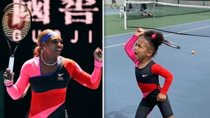 Serena Williams' Daughter Rocks Mom's Iconic Fit To Tennis Practice, My Mini-Me!