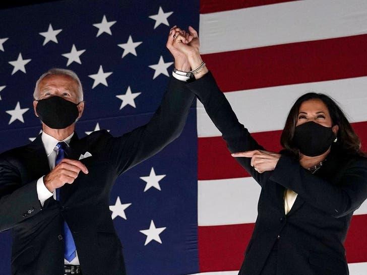 Joe Biden and Kamala Harris Together