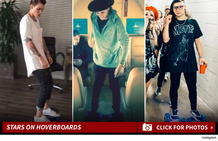 Celebrity Hoverboard Photos