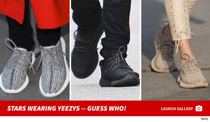 Stars Wearing Yeezys -- Guess Who!
