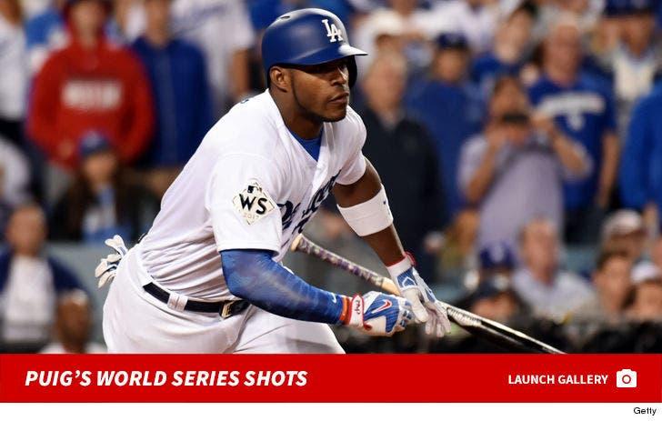 Yasiel Puig's World Series Shots