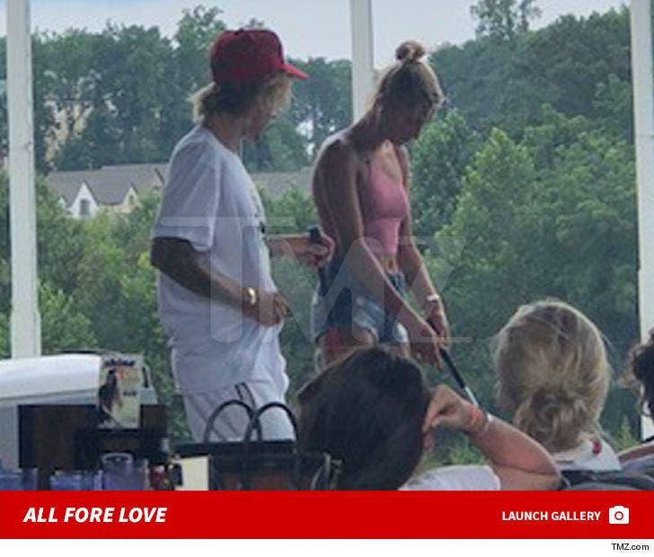 Justin Bieber and Hailey Baldwin's Golf Date