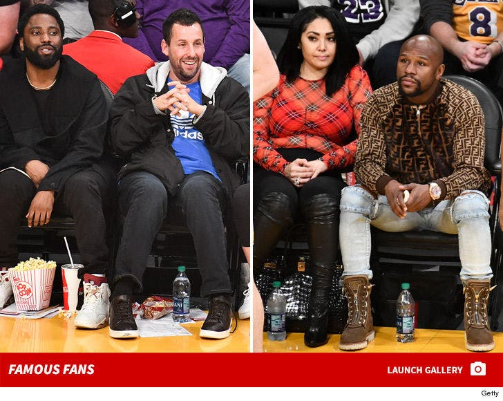 Lakers vs. Spurs -- Famous Fans