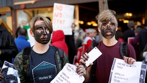 Justin Trudeau's Met By Protesters in Blackface