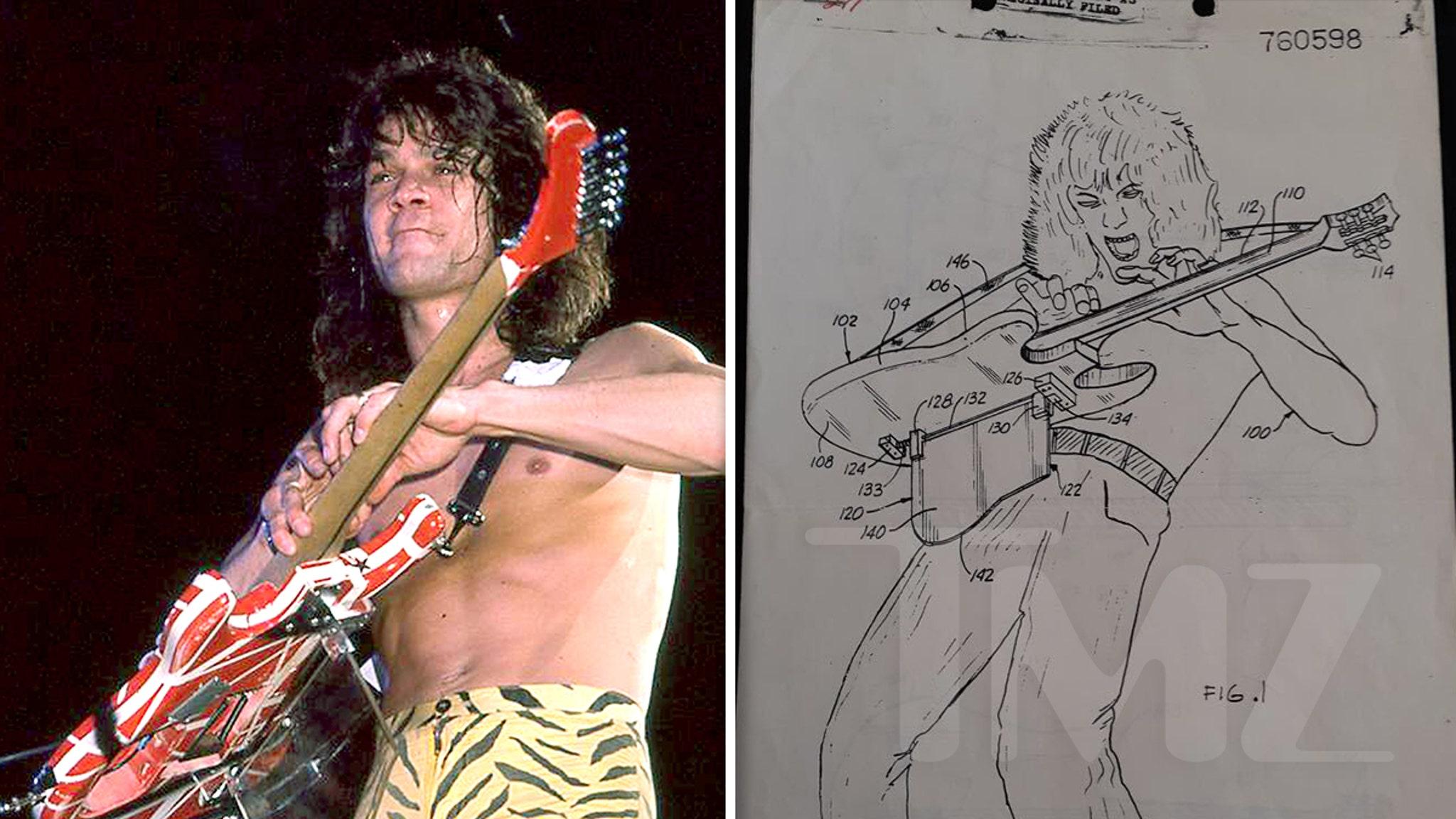 Eddie Van Halen's Original Guitar Body Rest Patent Up for Sale