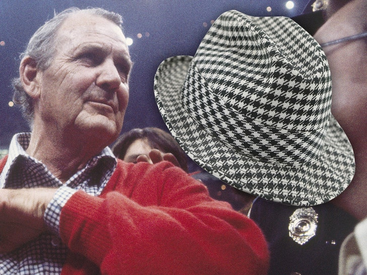 Legendary 'Bama Coach 'Bear' Bryant's Worn Houndstooth Hat Up For Auction.jpg