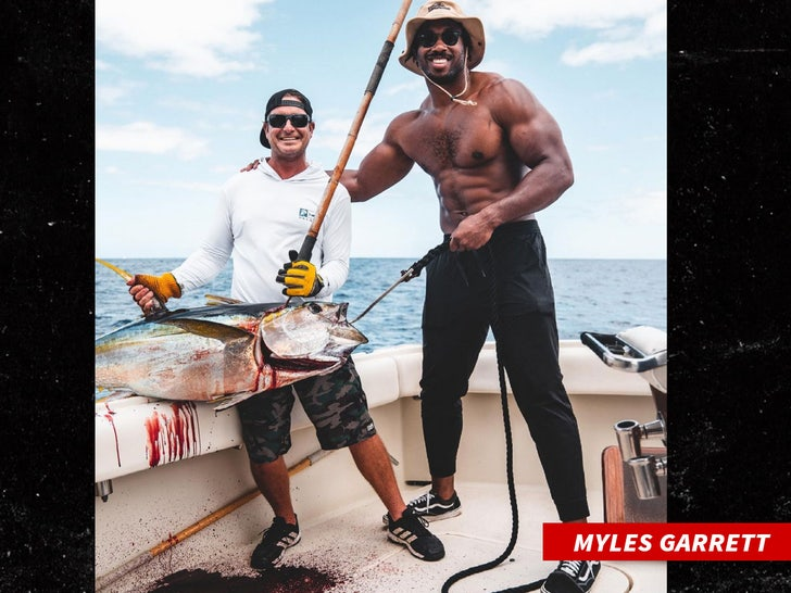 Myles Garrett fishing