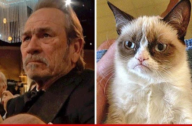Tommy Lee Jones -- 'Grumpy' Face Meme Goes Viral