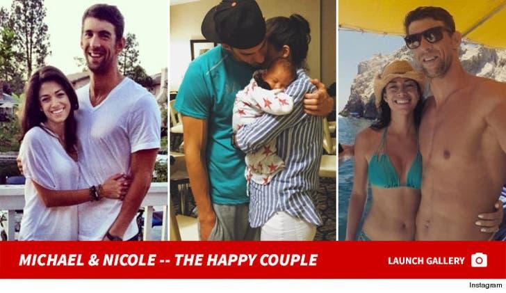 Michael Phelps and Nicole Johnson -- The Happy Couple