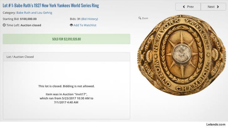 Charlie Sheen Hauls in Over $4 Million for Babe Ruth's 1927