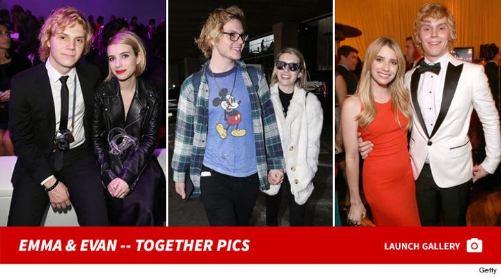 Emma Roberts and Evan Peters -- Together Photos
