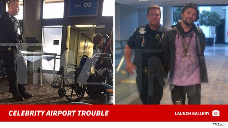 Celebrity Airport Troubles