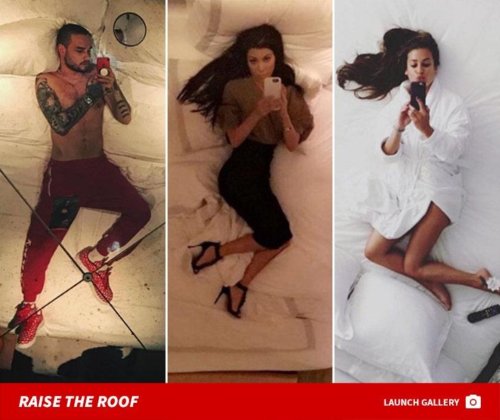 Celebrity Ceiling Selfies -- Things Are Looking Up!