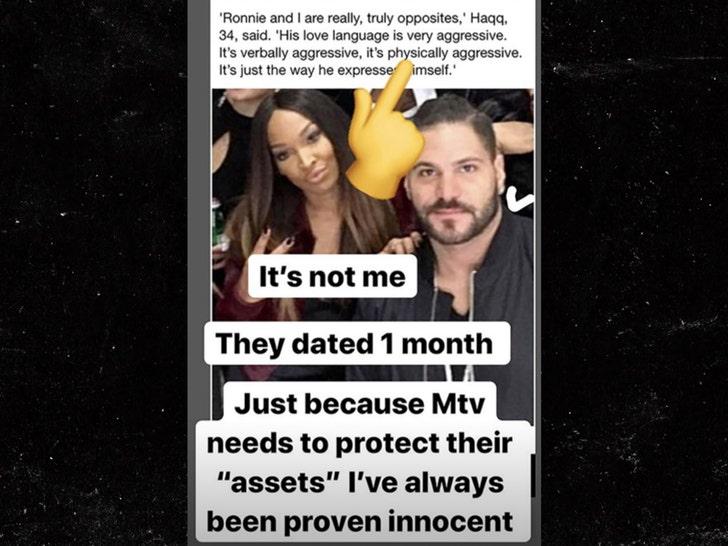 Ronnie Ortiz-Magro Denies Cheating Amid Jen Harley Breakup