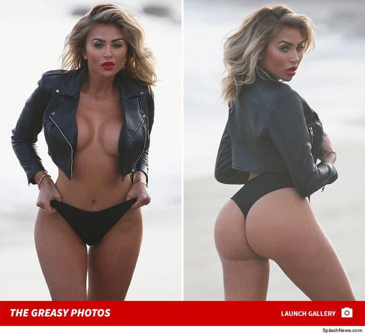 Model Khloe Terae Goes Topless Under Tiny Leather Jacket