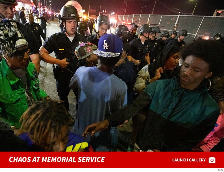Chaos At Nipsey Hussle Memorial