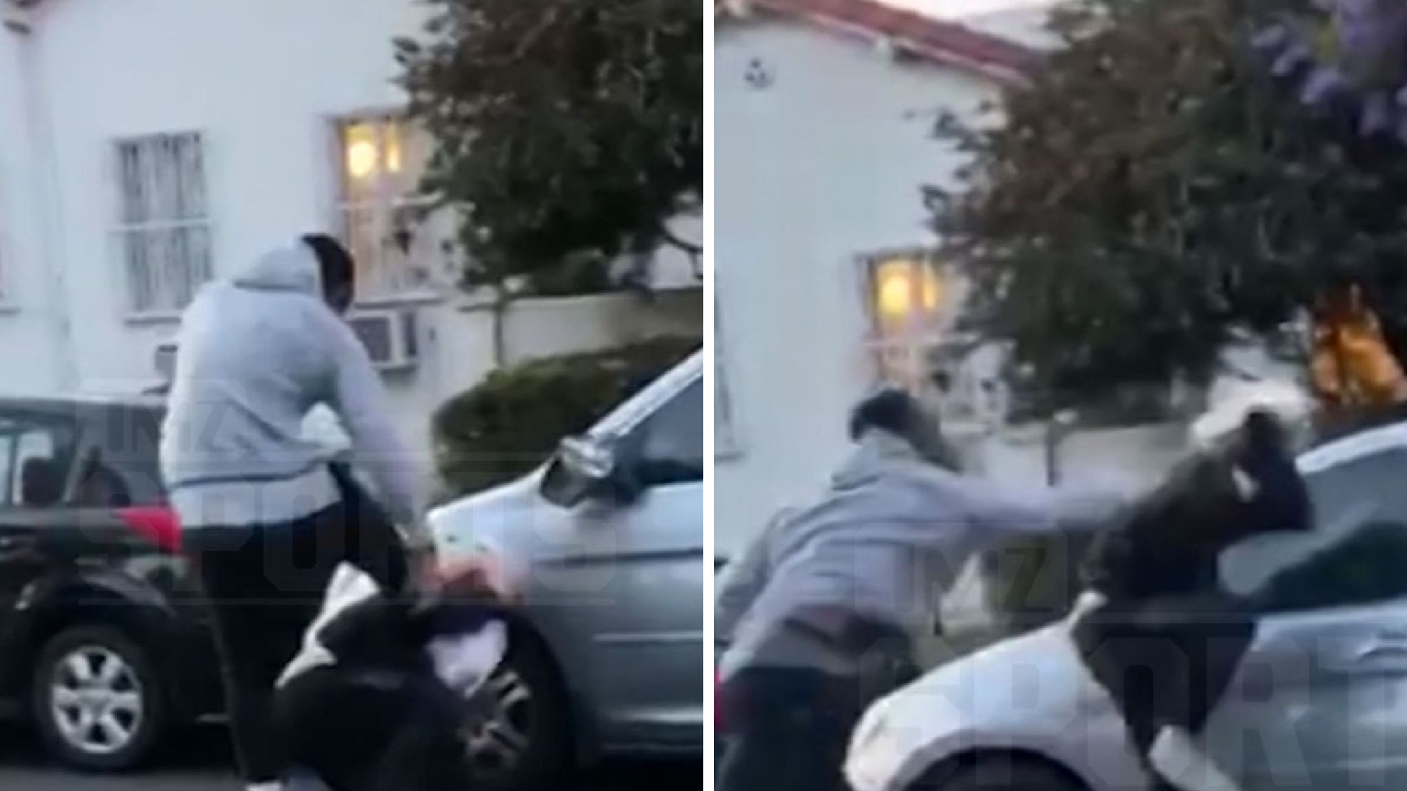 J.R. Smith Beats The Hell Out of Alleged Car Vandalizer During L.A. Protests