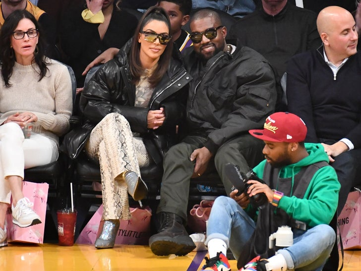 Courtside Celebs at Lakers vs. Cavaliers Game