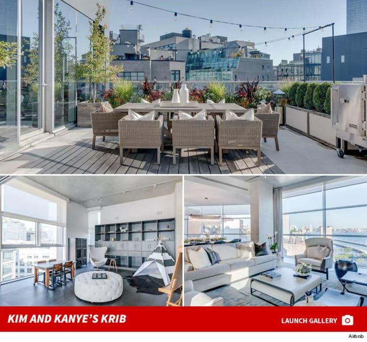 Kim and Kanye -- Big Apple Ballin' in $25 Mil Penthouse