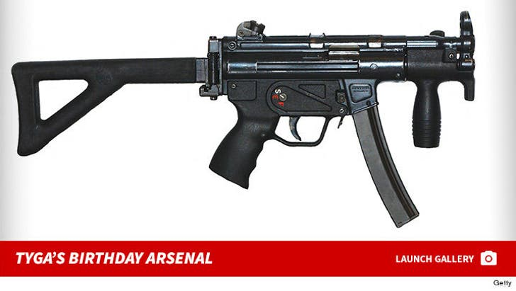 Tyga's Birthday Arsenal