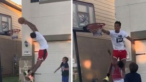 NBA's Dejounte Murray Bangs On Local Kids In Driveway Hoops Sesh, Crazy Dunks!