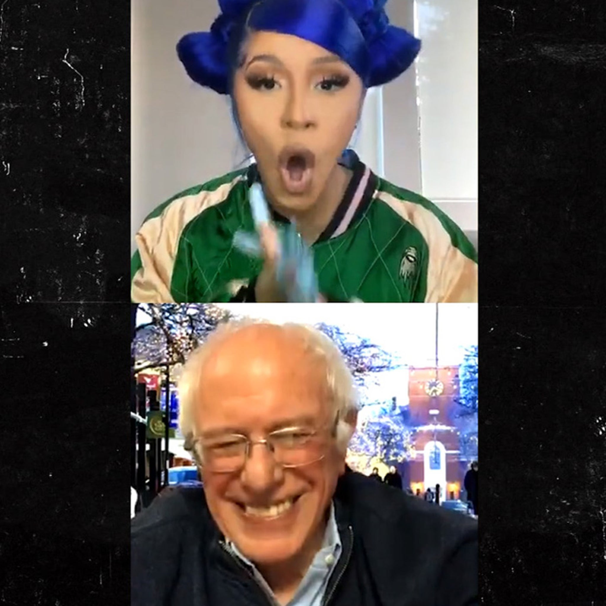 Cardi B Bernie Sanders Trash Talk Donald Trump On Instagram Live