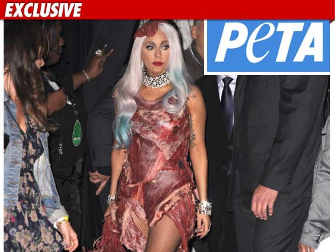 Lady Gaga Meat Dress See The Gaga Vma Outfit