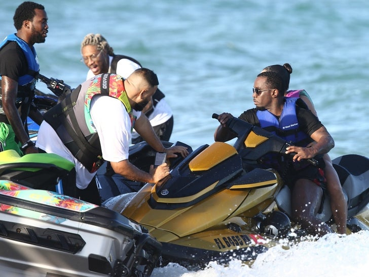 Diddy and Future Ride Jet Skis in Miami, No Bad Blood Over Lori Harvey