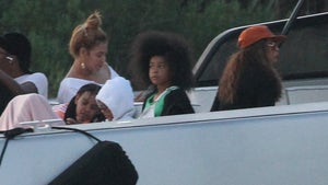 Beyonce, Tina Knowles, Blue Ivy Enjoy Boat Ride in the Hamptons