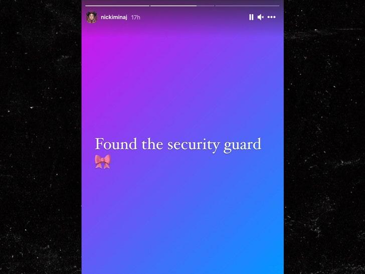 Nicki Minaj trova una guardia giurata