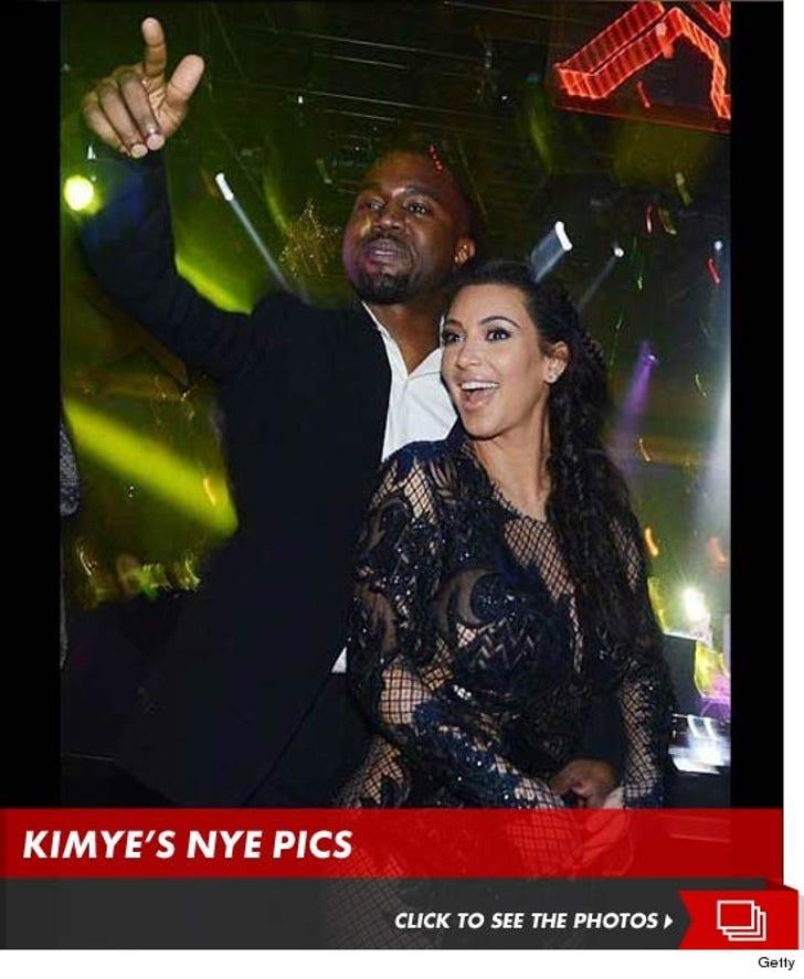 Kim and Kanye at 1 Oak