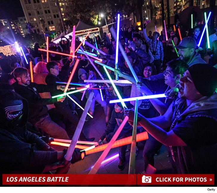 Los Angeles Lightsaber Battle