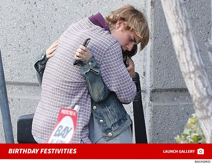 Birthday Boy Justin Bieber Arriving at MB2 Raceway with his Family