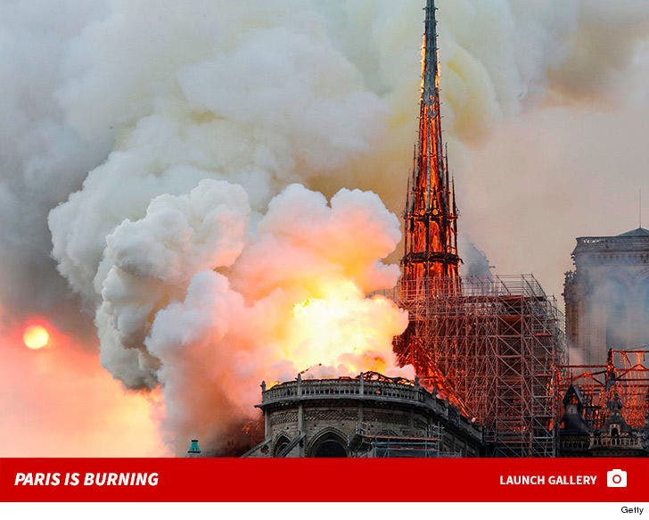 Notre Dame Cathedral Fire Photos
