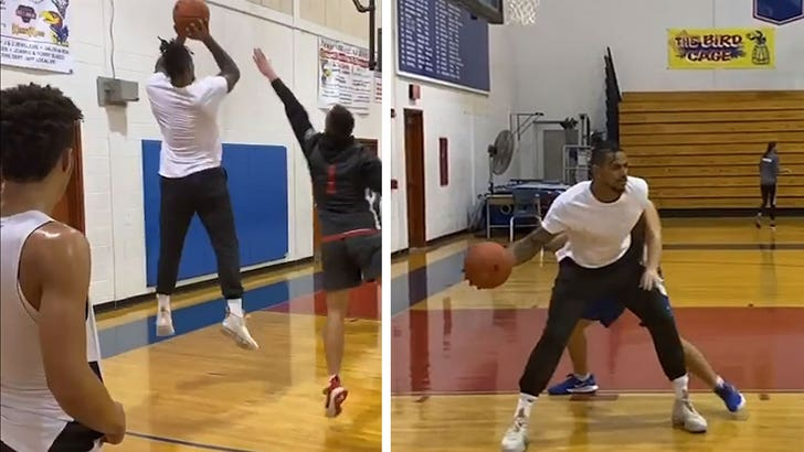 Terrelle Pryor Hits the Basketball Court Hard 1 Month After Stabbing - EpicNews