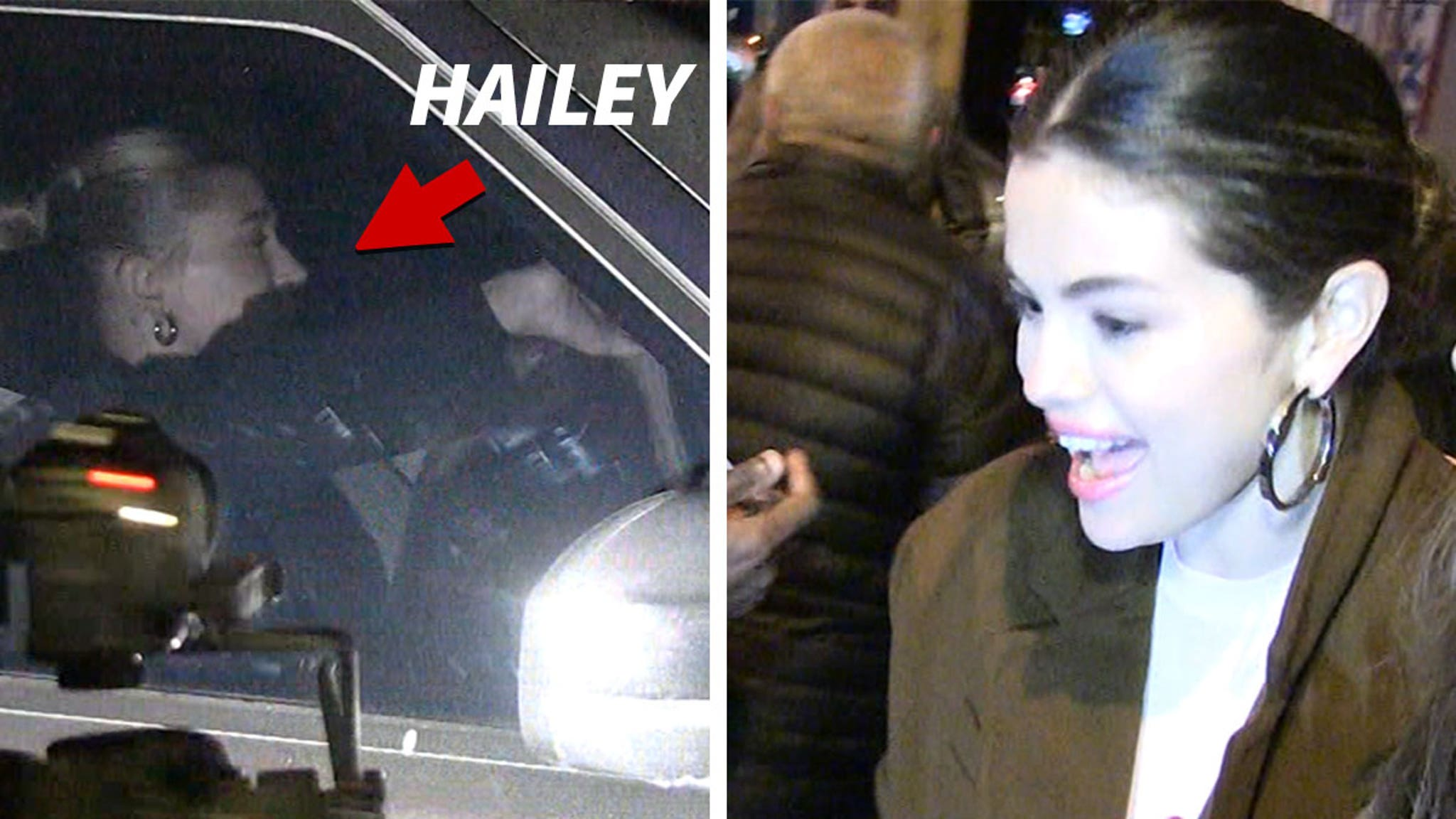Selena Gomez & Hailey Bieber Leave Same Restaurant, No Sign of Justin