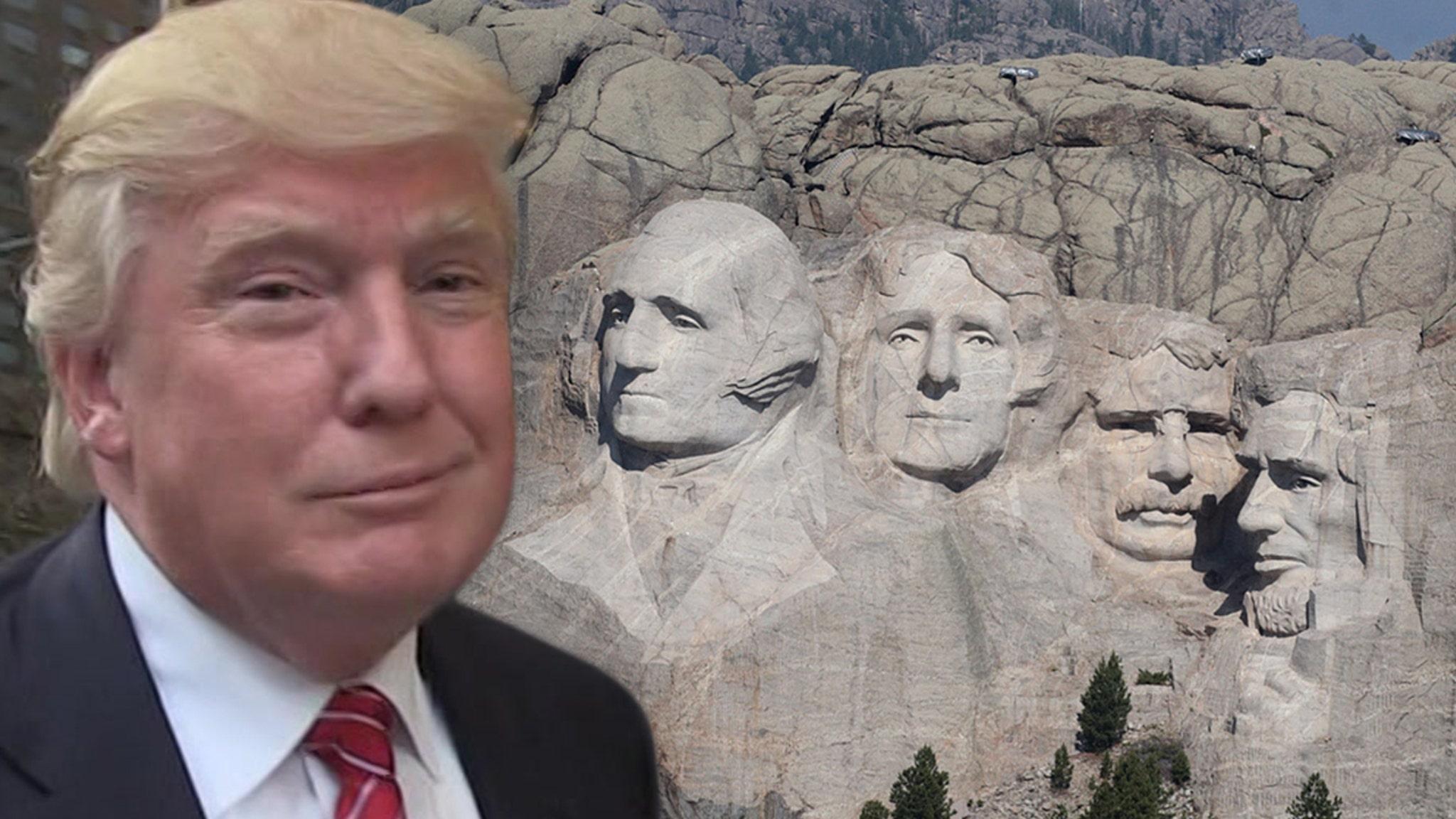 President Trump Lobbied S. Dakota Governor Add Me to Mt. Rushmore, Please!!!