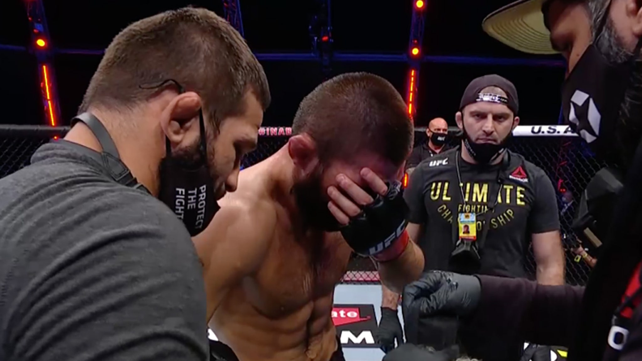 Khabib Nurmagomedov RETIRES FROM MMA After Choking Out Justin Gaethje
