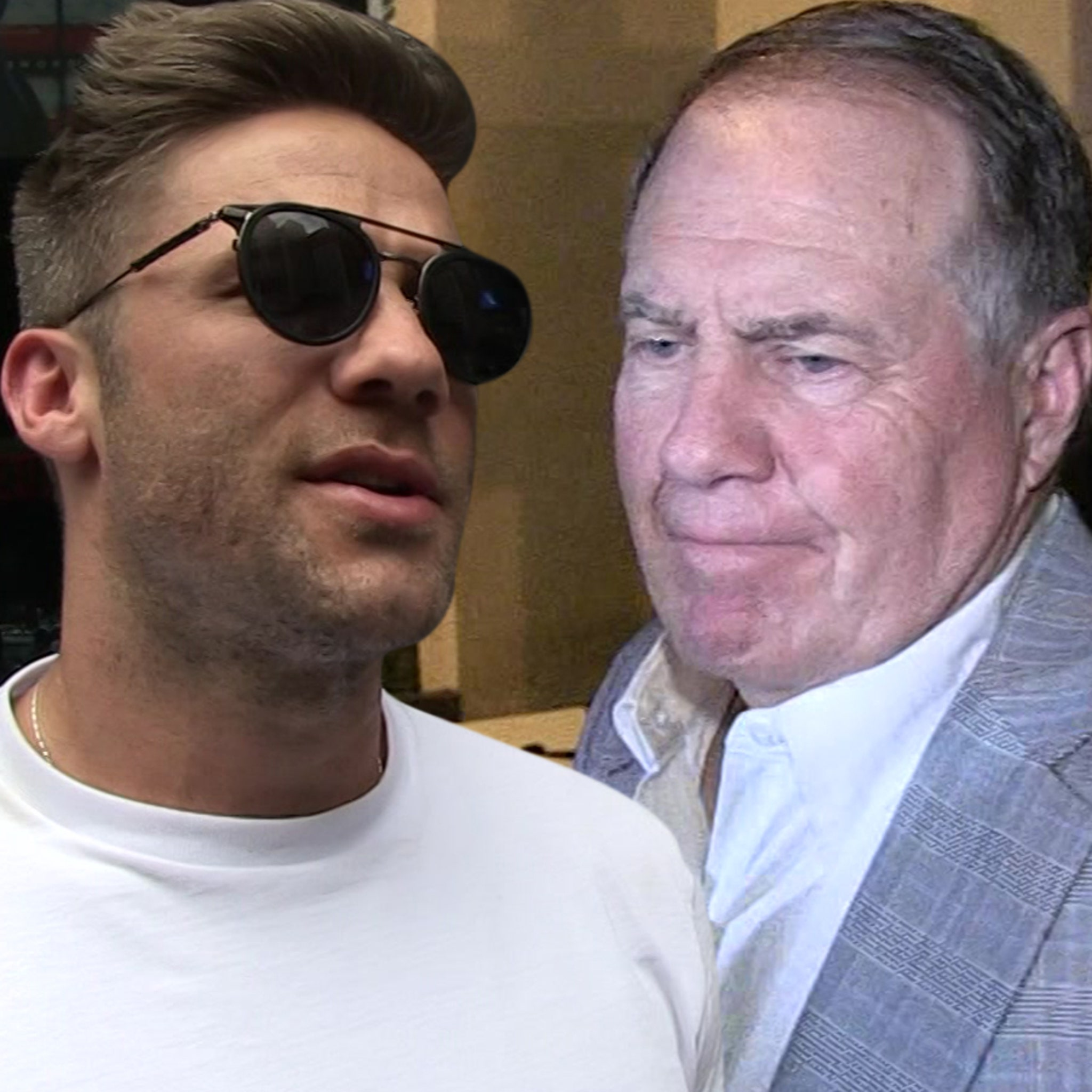 Julian Edelman Says He Once Caught Bill Belichick Dong-Out in Team Hot Tub