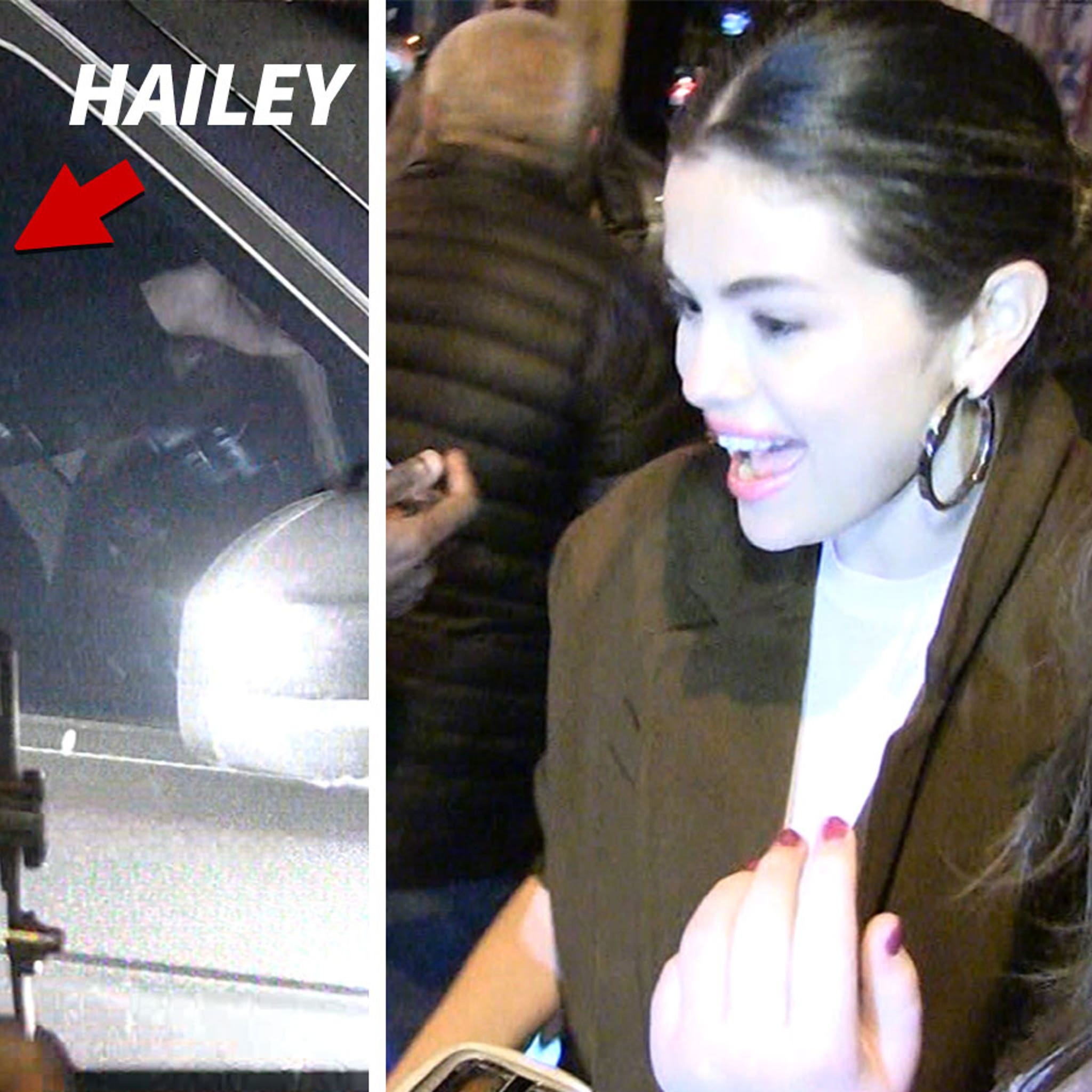 Selena Gomez & Hailey Bieber Leave Same Restaurant, No Sign of Justin