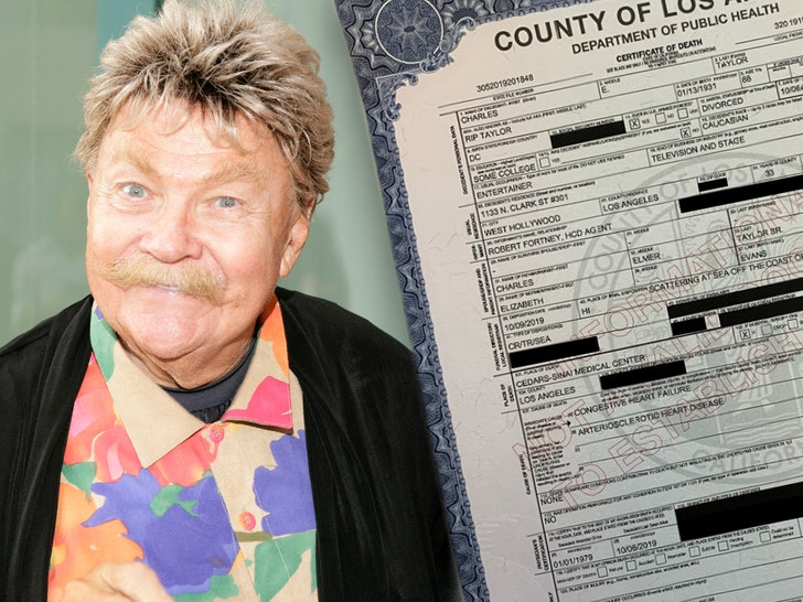 Rip Taylor Died from Congestive Heart Failure, According to