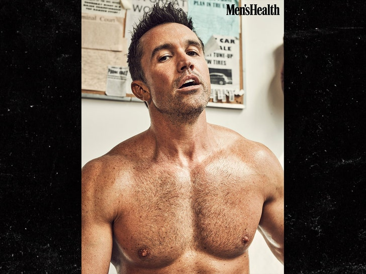 Rob McElhenney  -- Big Flex on Men's Health Cover
