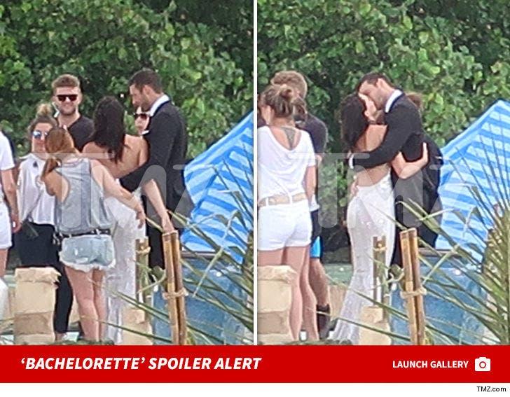 SPOILER ALERT: 'Bachelorette' Becca Kufrin Kissing Mystery Man