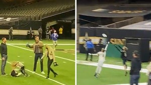Tom Brady Throws TD Pass To Drew Brees' Son After Bouncing Saints From Playoffs