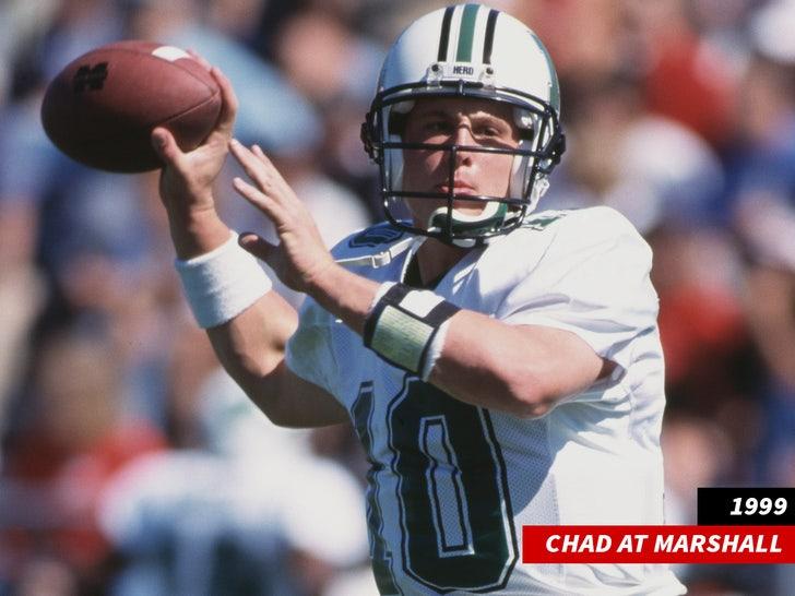Chad Pennington at Marshall college