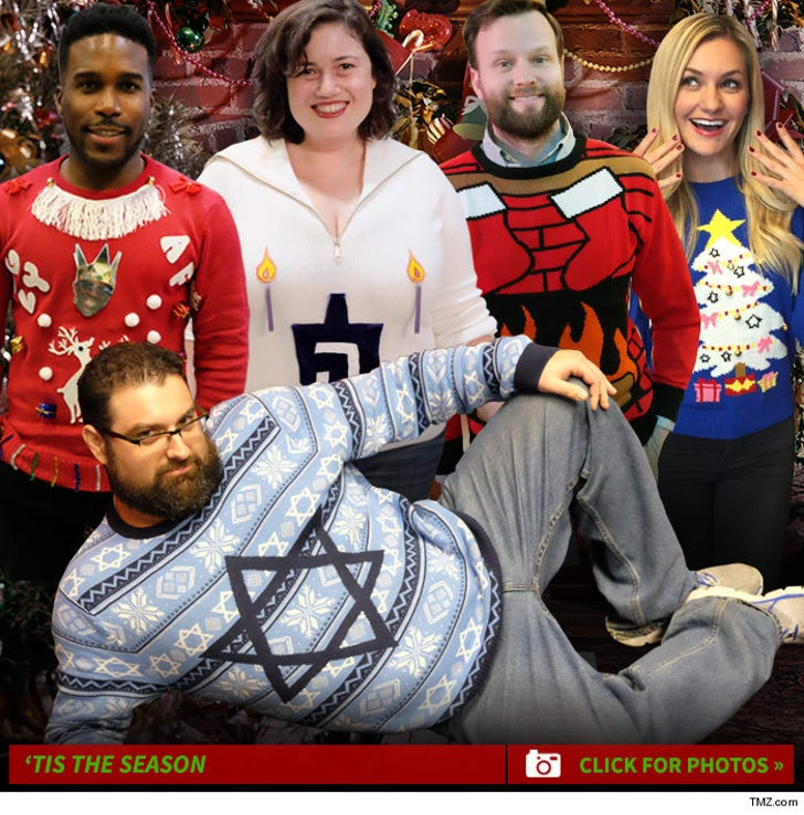 Tmz Staff Pics Ugly Holiday Sweater Edition