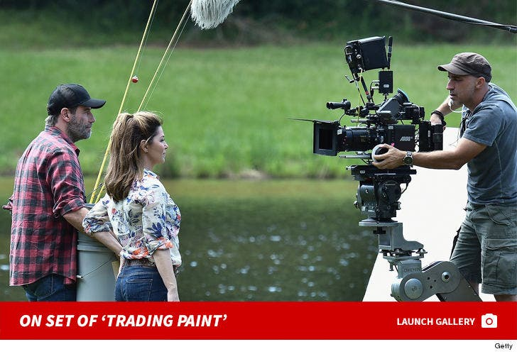 On Set of 'Trading Paint'